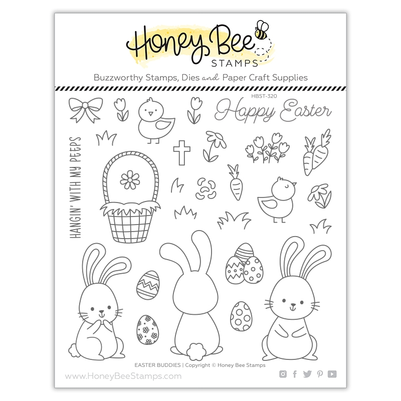 Honey Bee EASTER BUDDIES Clear Stamp Set hbst320 zoom image