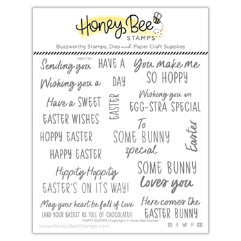 Honey Bee HOPPY EASTER Clear Stamp Set hbst321