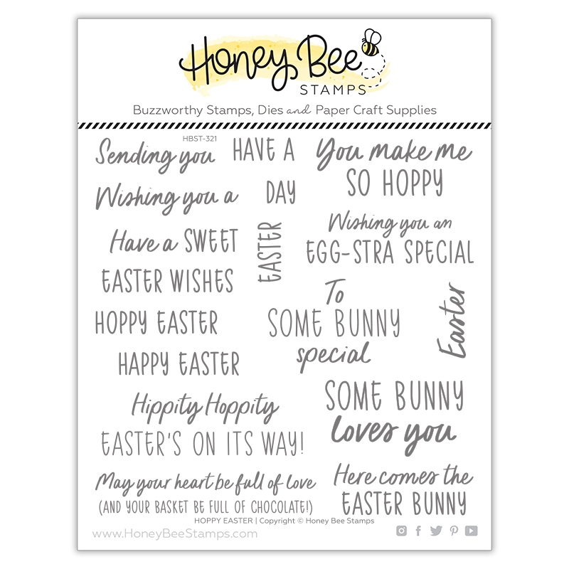 Honey Bee HOPPY EASTER Clear Stamp Set hbst321 zoom image