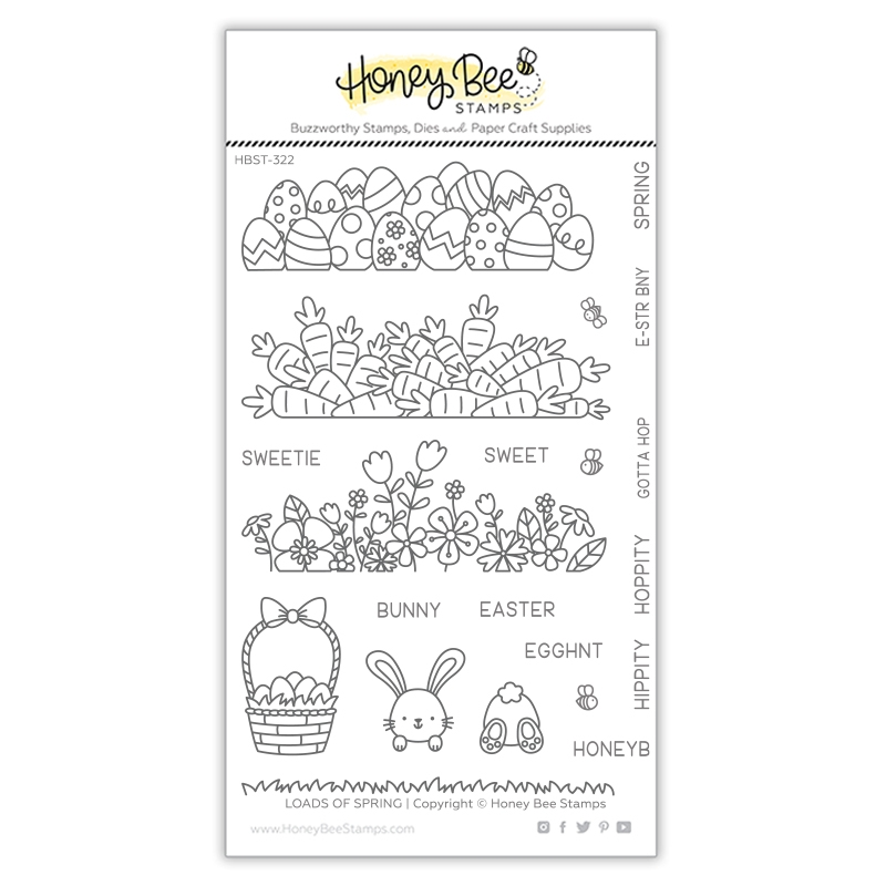 Honey Bee LOADS OF SPRING Clear Stamp Set hbst322 zoom image