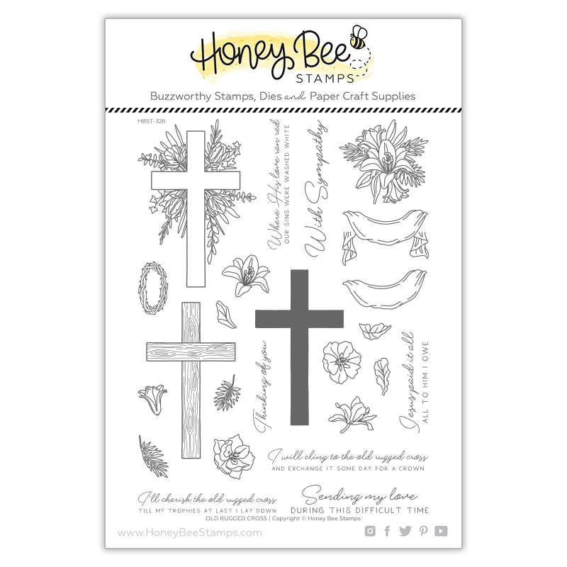 Honey Bee OLD RUGGED CROSS Clear Stamp Set hbst326 zoom image