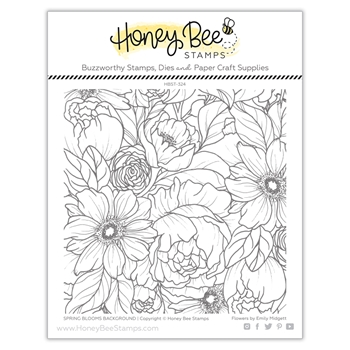 Honey Bee SPRING BLOOMS BACKGROUND Clear Stamp Set hbst324