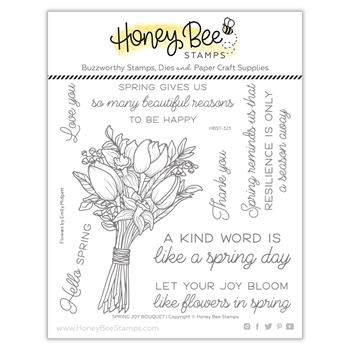Honey Bee SPRING JOY BOUQUET Clear Stamp Set hbst323