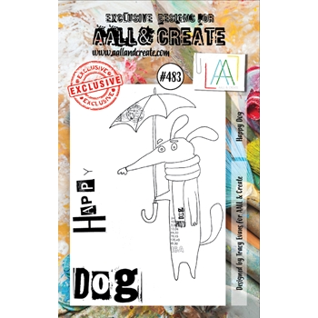 AALL & Create HAPPY DOG A7 Clear Stamp Set aall483