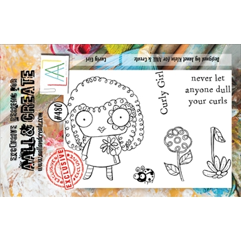 AALL & Create CURLY GIRL A7 Clear Stamp Set aall480