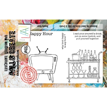 AALL & Create HAPPY HOUR A7 Clear Stamp Set aall476