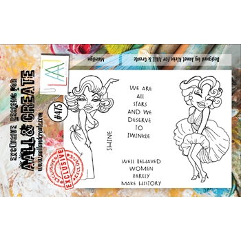 AALL & Create MARILYN A7 Clear Stamp Set aall475