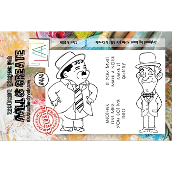 AALL & Create STAN AND OLLIE A7 Clear Stamp Set aall474