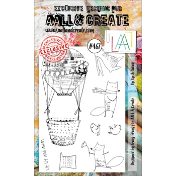 AALL & Create UP UP AND AWAY A6 Clear Stamp Set aall467