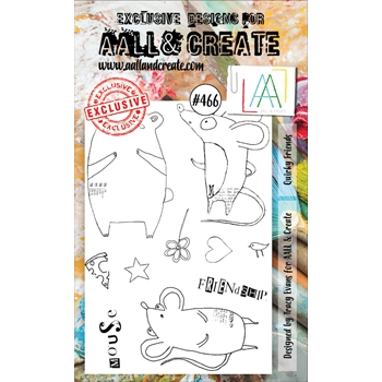 AALL & Create QUIRKY FRIENDS A6 Clear Stamp Set aall466