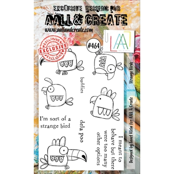AALL & Create STRANGE BIRDS A6 Clear Stamp Set aall464