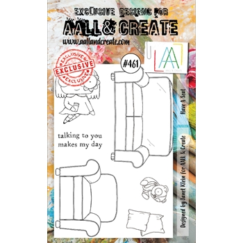 AALL & Create HAVE A SEAT A6 Clear Stamp Set aall461