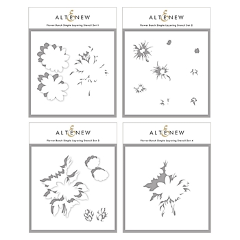Altenew FLOWER BUNCH Simple Layering Stencils ALT4878