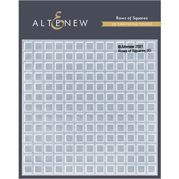 Altenew ROW OF SQUARES 3D Embossing Folder ALT4873