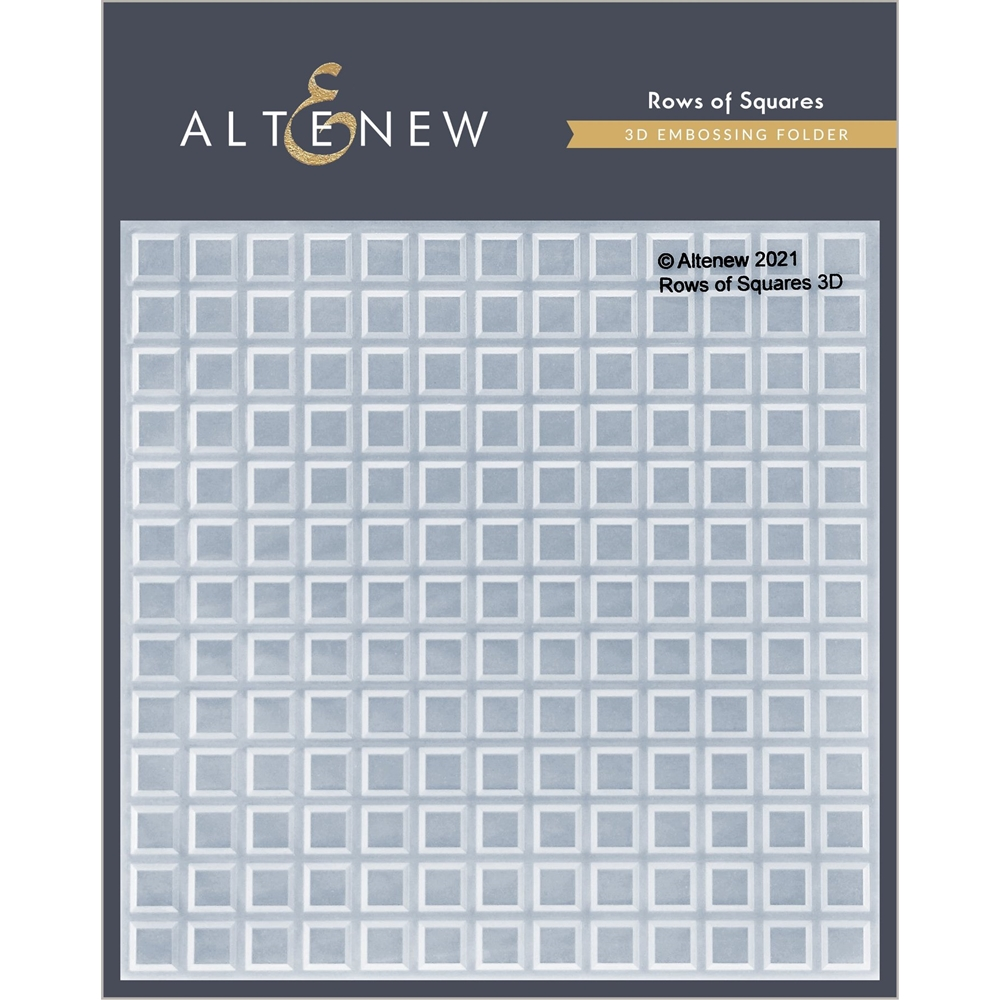 Altenew ROW OF SQUARES 3D Embossing Folder ALT4873 zoom image