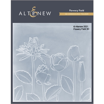 Altenew FLOWERY FIELD 3D Embossing Folder ALT4870