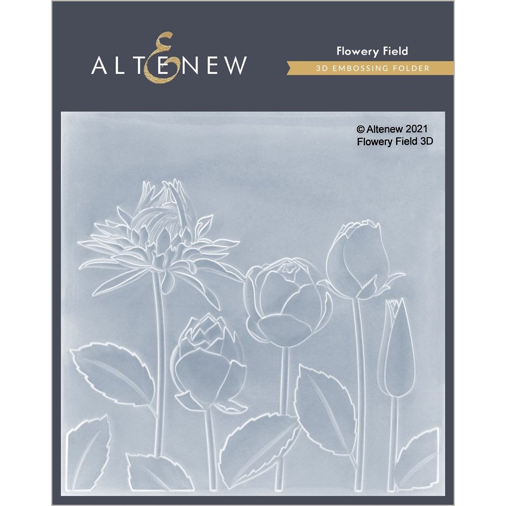 Altenew FLOWERY FIELD 3D Embossing Folder ALT4870 zoom image