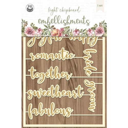 P13 ALWAYS AND FOREVER Light Chipboard Embellishment P13 ALW 54 Preview Image