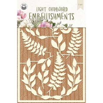 P13 FOREST TEA PARTY Light Chipboard Embellishments P13 FOR 47