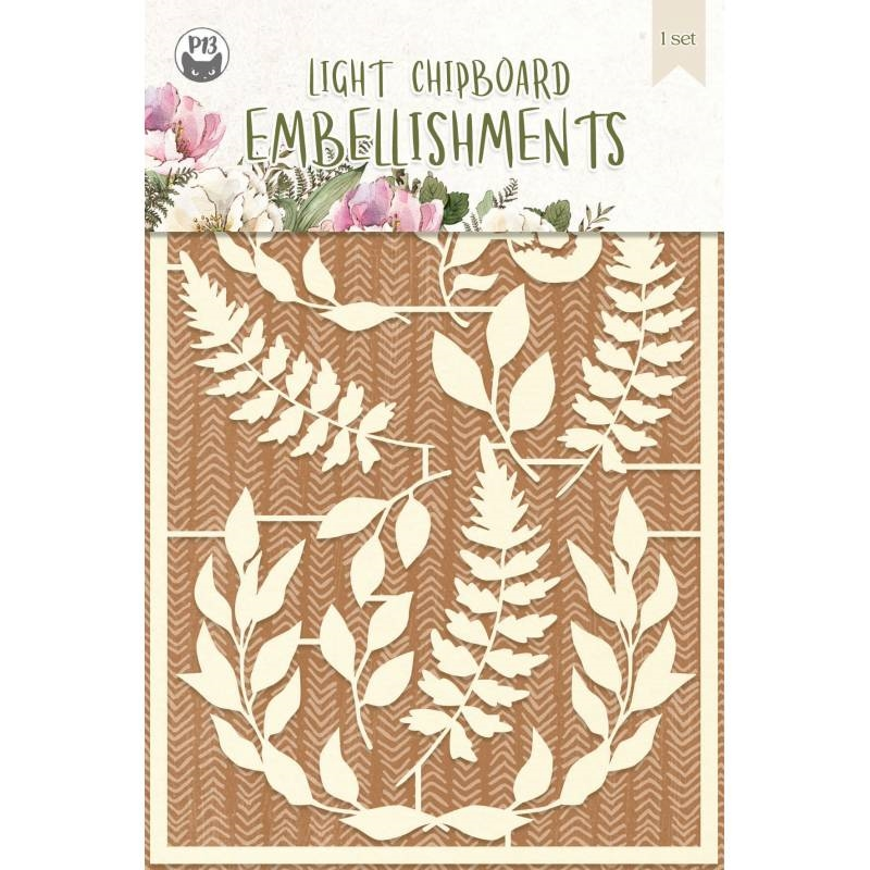 P13 FOREST TEA PARTY Light Chipboard Embellishments P13 FOR 47 zoom image
