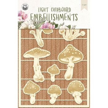 P13 FOREST TEA PARTY Light Chipboard Embellishment P13 FOR 45