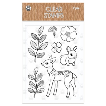 P13 FOREST TEA PARTY Clear Stamps P13 FOR 31