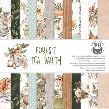P13 FOREST TEA PARTY 6 x 6 inch Paper Pad P13 FOR 09