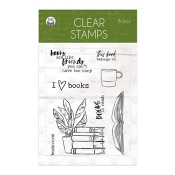 P13 THE GARDEN OF BOOKS Clear Stamps P13 GAR 30