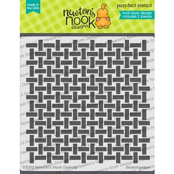 Newton's Nook Designs BASKETWEAVE Stencil NN2102T02