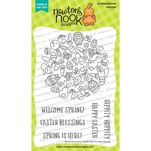 Newton's Nook Designs SPRING ROUNDABOUT Clear Stamps NN2102S06 Preview Image