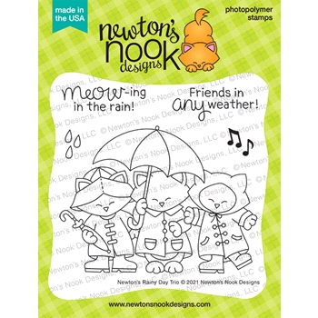 Newton's Nook Designs NEWTON'S RAINY DAY TRIO Clear Stamps NN2102S03