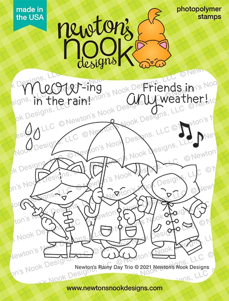 Newton's Nook Designs NEWTON'S RAINY DAY TRIO Clear Stamps NN2102S03 zoom image