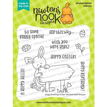 Newton's Nook Designs HOPPY GREETINGS Clear Stamps NN2102S02
