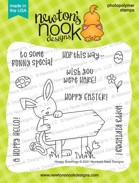 Newton's Nook Designs HOPPY GREETINGS Clear Stamps NN2102S02 zoom image