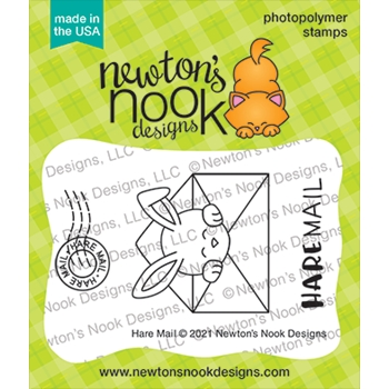 Newton's Nook Designs HARE MAIL Clear Stamps NN2102S05