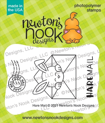 Newton's Nook Designs HARE MAIL Clear Stamps NN2102S05 zoom image