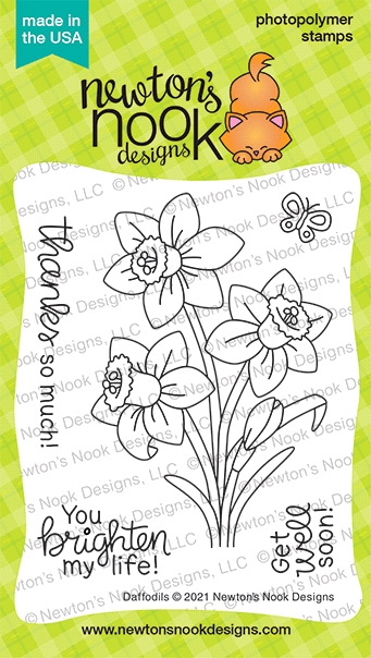 Newton's Nook Designs DAFFODILS Clear Stamps NN2102S04 zoom image
