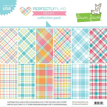 Lawn Fawn PERFECTLY PLAID REMIX 12x12 Inch Collection Pack lf2492