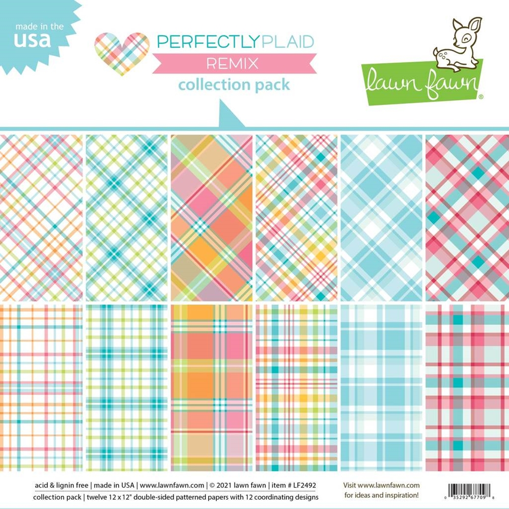 Lawn Fawn PERFECTLY PLAID REMIX 12x12 Inch Collection Pack lf2492 zoom image