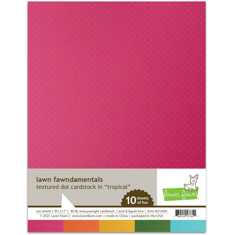 Lawn Fawn TROPICAL Textured Dot Cardstock lf2495 zoom image