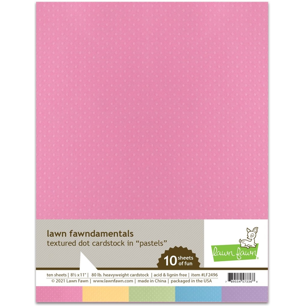 Lawn Fawn PASTELS Textured Dot Cardstock lf2496 zoom image