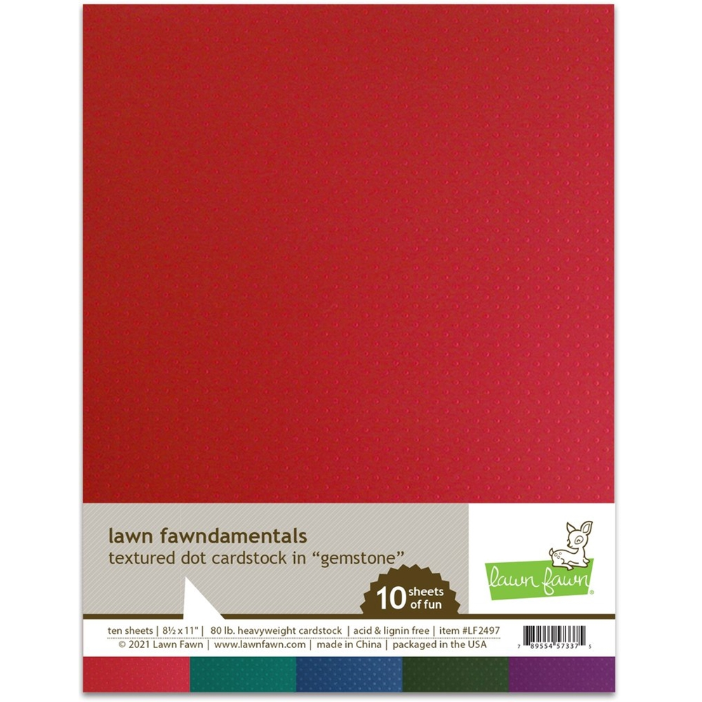 Lawn Fawn GEMSTONE Textured Dot Cardstock lf2497 zoom image