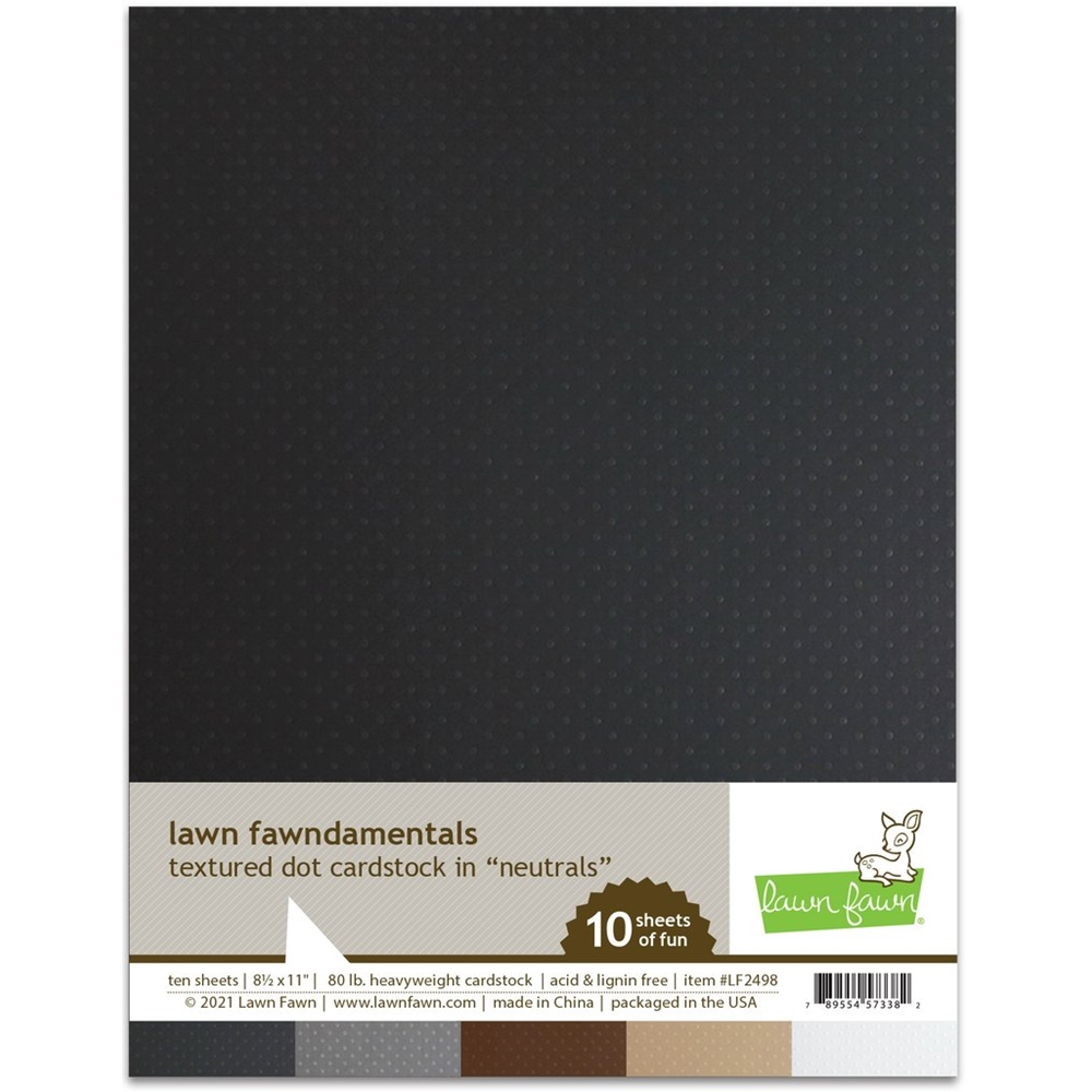 Lawn Fawn NEUTRALS Textured Dot Cardstock lf2498 zoom image