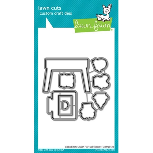 Lawn Fawn VIRTUAL FRIENDS Die Cuts lf2505 Preview Image