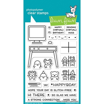 Lawn Fawn VIRTUAL FRIENDS Clear Stamps lf2504