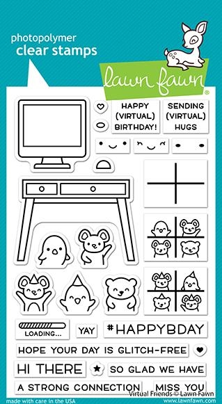 Lawn Fawn VIRTUAL FRIENDS Clear Stamps lf2504 zoom image