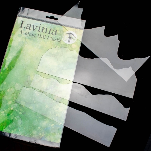 Lavinia Stamps ACETATE HILL MASK Stencils LAM002 Preview Image