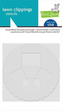 Lawn Fawn RECTANGLE AND VIRTUAL FRIENDS Reveal Wheel Templates lf2521 Preview Image
