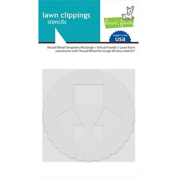 Lawn Fawn RECTANGLE AND VIRTUAL FRIENDS Reveal Wheel Templates lf2521