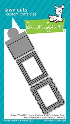 Lawn Fawn REVEAL WHEEL RECTANGLE WINDOW ADD-ON Die Cuts lf2520 Preview Image